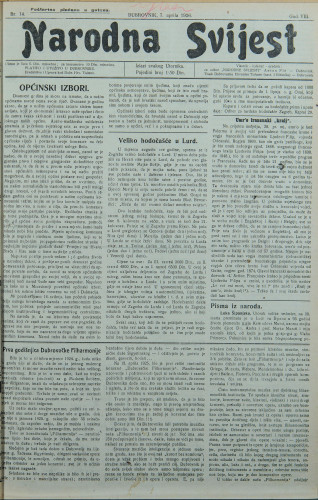 Narodna svijest, 1926/14