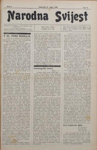 Narodna svijest, 1920/9
