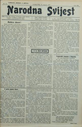 Narodna svijest, 1926/32