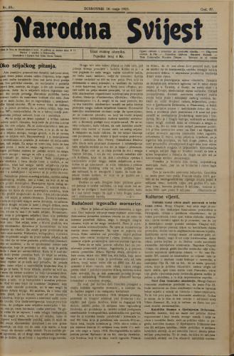 Narodna svijest, 1922/20