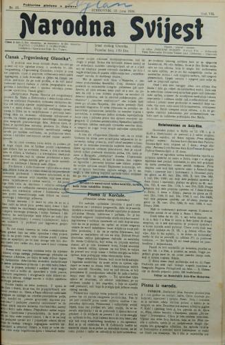 Narodna svijest, 1926/25
