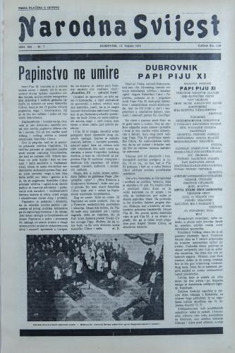 Narodna svijest, 1939/7