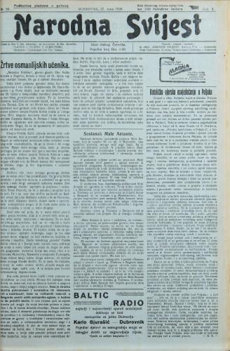 Narodna svijest, 1928/26