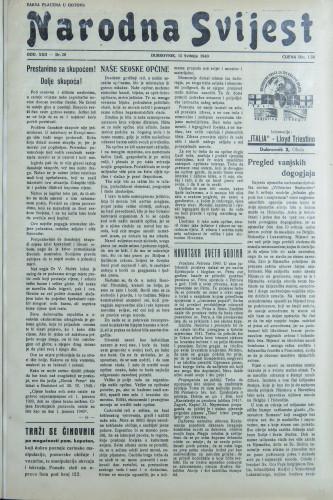 Narodna svijest, 1940/20