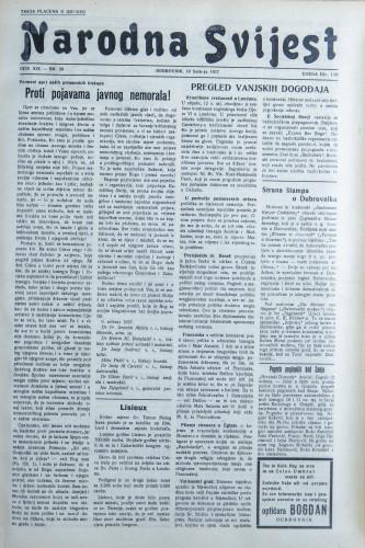 Narodna svijest, 1937/20
