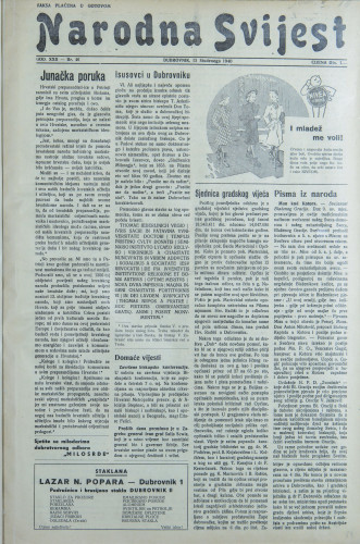 Narodna svijest, 1940/46