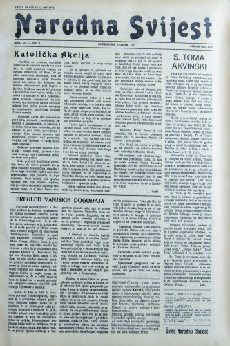 Narodna svijest, 1937/9