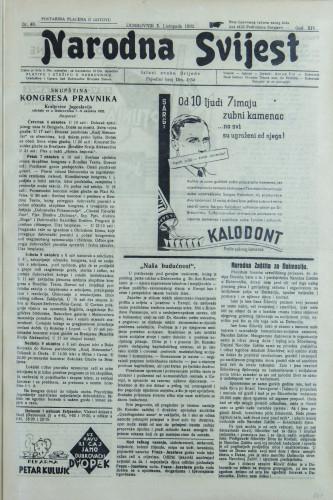 Narodna svijest, 1932/40