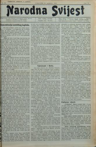 Narodna svijest, 1924/41