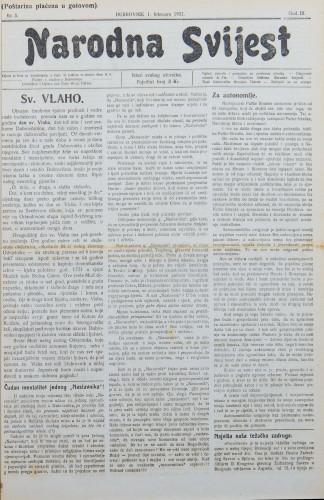 Narodna svijest, 1921/5