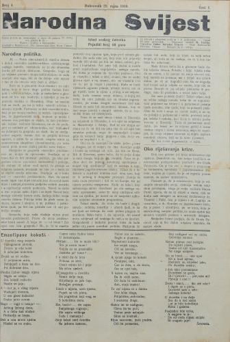 Narodna svijest, 1919/4