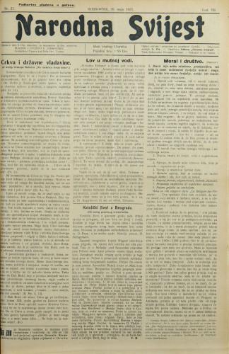 Narodna svijest, 1925/21