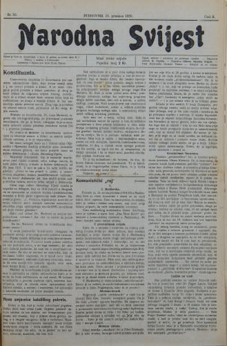 Narodna svijest, 1920/52