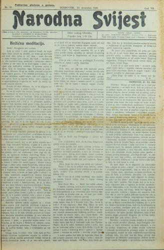 Narodna svijest, 1925/52