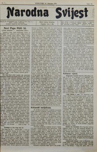 Narodna svijest, 1922/7