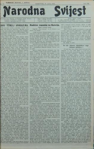Narodna svijest, 1926/11
