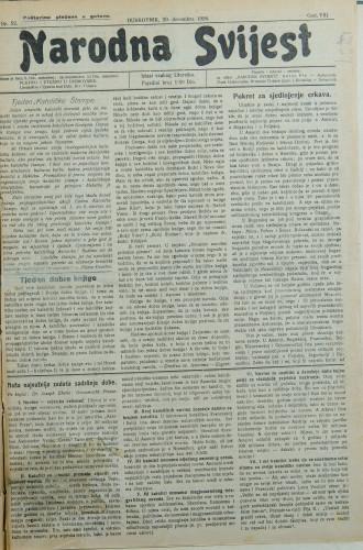Narodna svijest, 1926/52