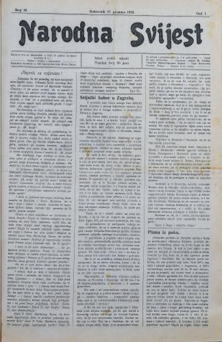 Narodna svijest, 1919/16