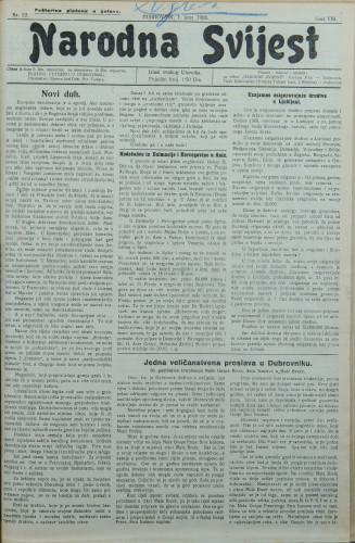 Narodna svijest, 1926/22