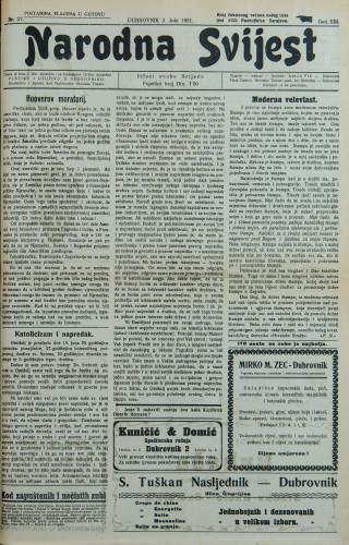 Narodna svijest, 1931/27