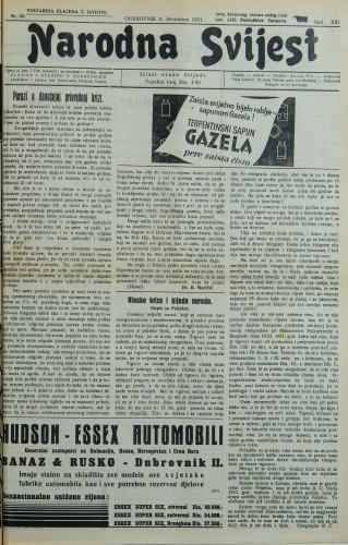 Narodna svijest, 1931/50