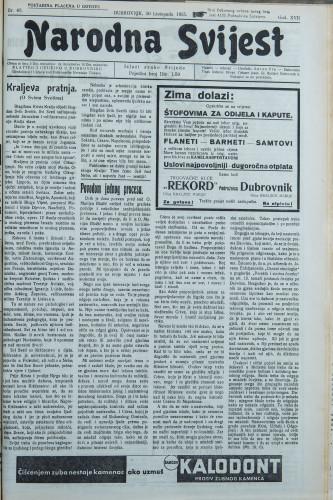 Narodna svijest, 1935/43