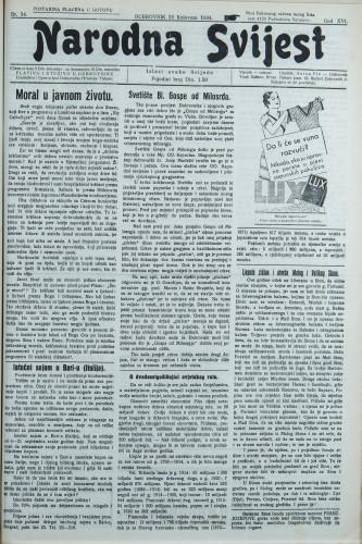 Narodna svijest, 1934/34