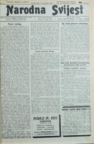 Narodna svijest, 1928/45