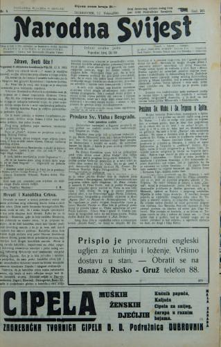 Narodna svijest, 1930/6