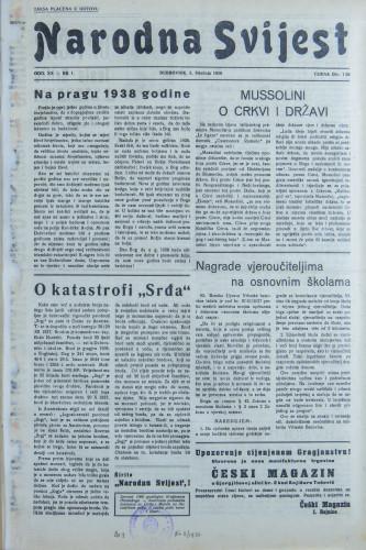 Narodna svijest, 1938/1