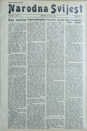 Narodna svijest, 1940/22
