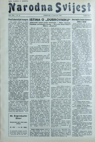 Narodna svijest, 1940/33