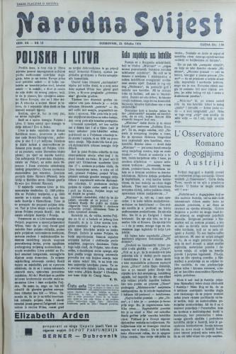 Narodna svijest, 1938/12