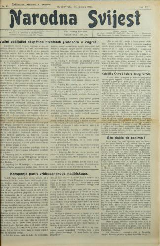 Narodna svijest, 1925/43