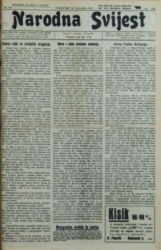 Narodna svijest, 1931/38