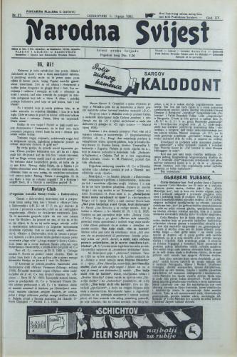 Narodna svijest, 1933/27