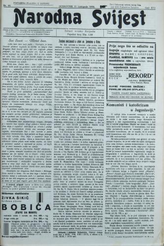 Narodna svijest, 1934/44