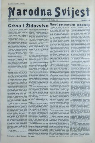 Narodna svijest, 1939/4