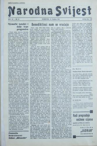 Narodna svijest, 1938/52