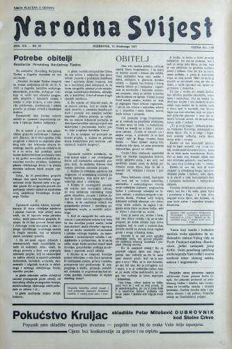 Narodna svijest, 1937/49
