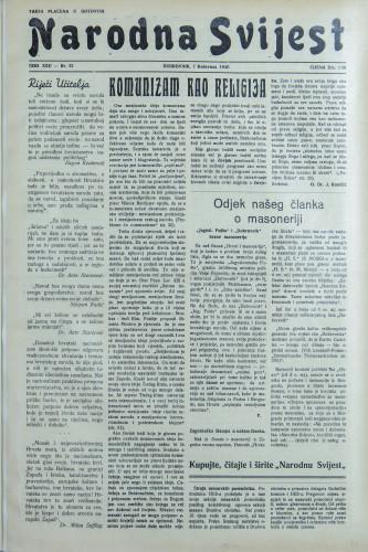 Narodna svijest, 1940/32