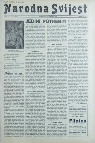 Narodna svijest, 1940/50- 52