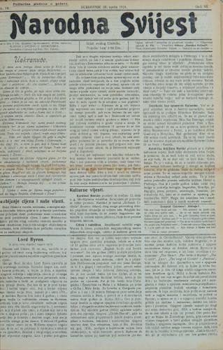 Narodna svijest, 1924/18