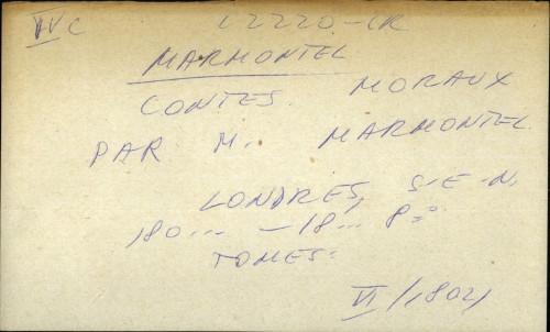 Contes Moraux par m. Marmontel
