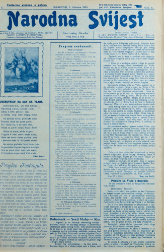 Narodna svijest, 1928/5