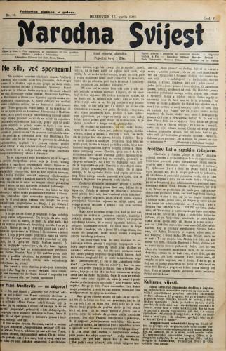 Narodna svijest, 1923/18