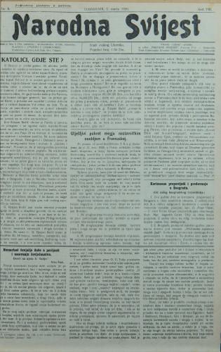 Narodna svijest, 1926/9