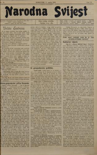 Narodna svijest, 1922/15