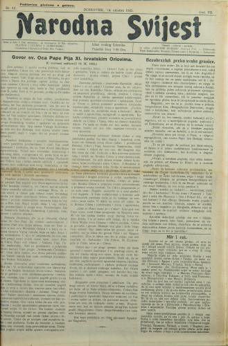 Narodna svijest, 1925/42