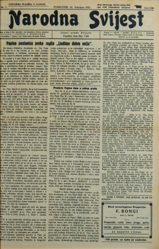 Narodna svijest, 1931/7